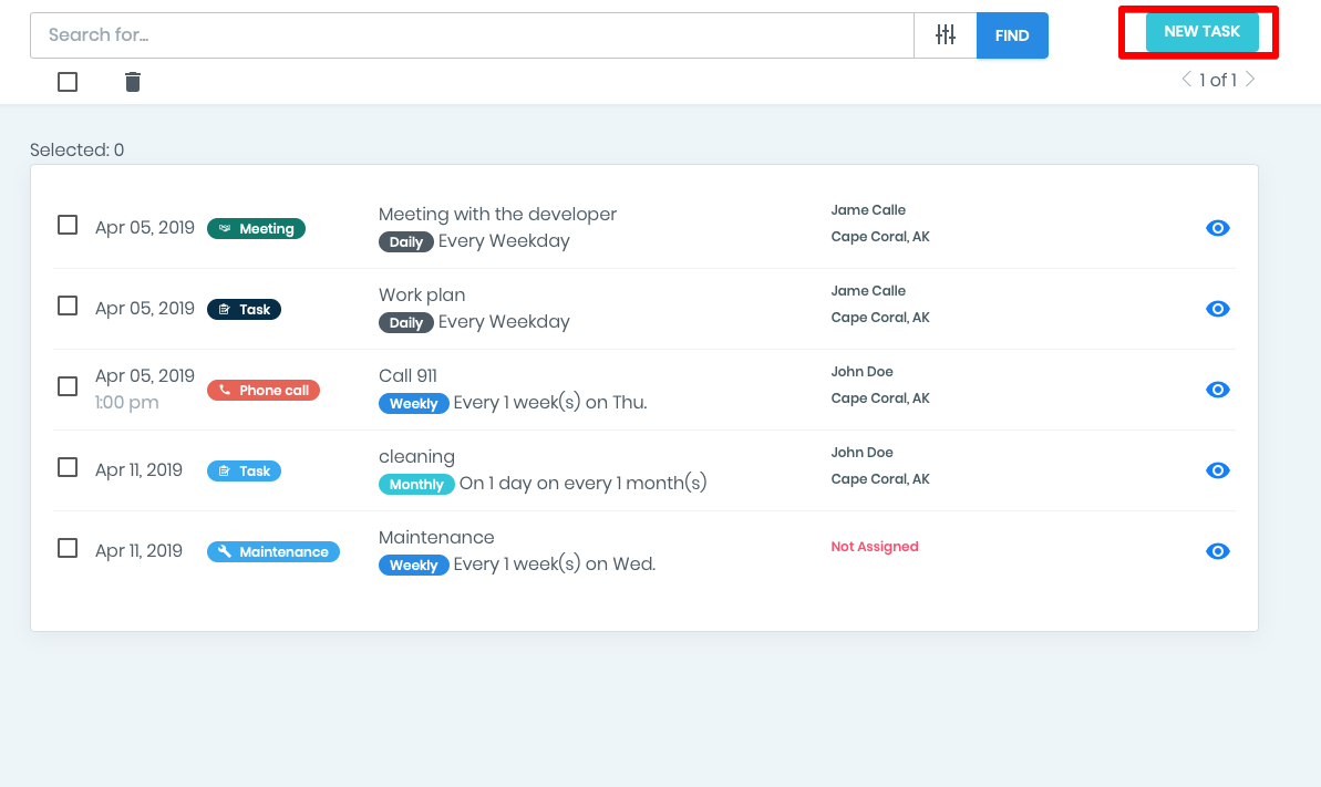 How to create a Recurring Tasks